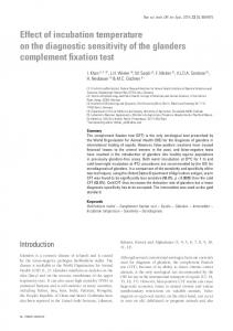 Effect of incubation temperature on the diagnostic sensitivity of ... - OIE