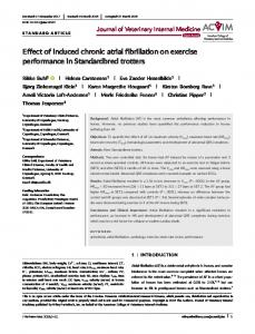 Effect of induced chronic atrial fibrillation on ... - Wiley Online Library