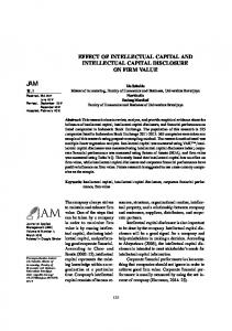 effect of intellectual capital and intellectual capital disclosure on firm