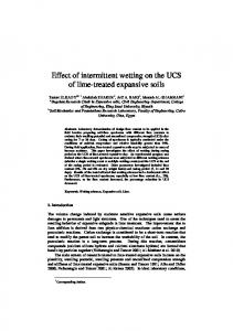 Effect of intermittent wetting on the UCS of lime ...