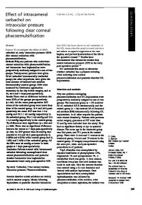 Effect of intracameral carbachol on intraocular pressure ... - Nature