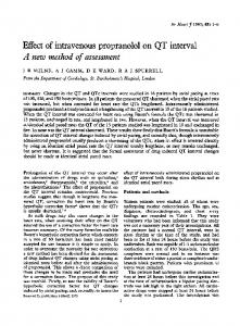 Effect of intravenous propranolol on QT interval - Europe PMC