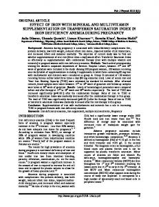 Effect of iron with mineral and multivitamin supplementation on ...