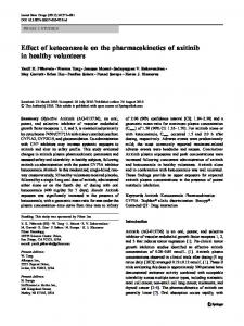 Effect of ketoconazole on the pharmacokinetics of axitinib in healthy ...