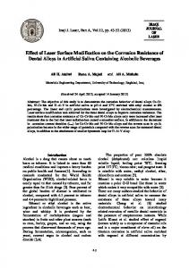 Effect of Laser Surface Modification on the Corrosion