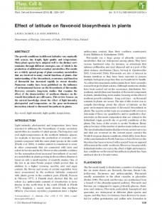 Effect of latitude on flavonoid biosynthesis in ... - Wiley Online Library