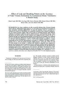 Effect of Leak and Breathing Pattern on the ... - Semantic Scholar