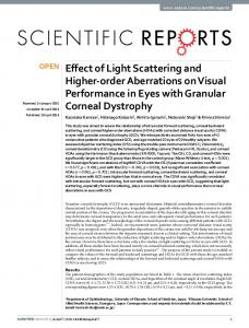 Effect of Light Scattering and Higher-order Aberrations on ... - Nature