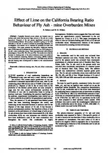 Effect of Lime on the California Bearing Ratio ... - Semantic Scholar