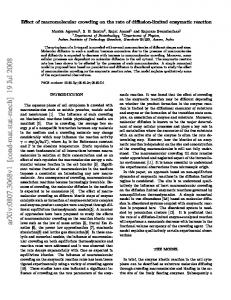 Effect of macromolecular crowding on the rate of diffusion-limited ...