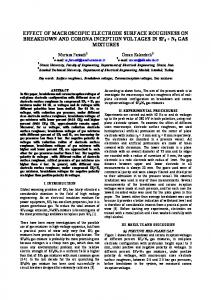effect of macroscopic electrode surface roughness on