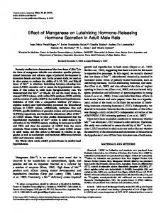 Effect of Manganese on Luteinizing Hormone ... - Oxford Journals