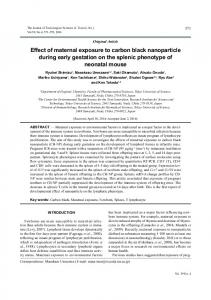 Effect of maternal exposure to carbon black nanoparticle during early ...