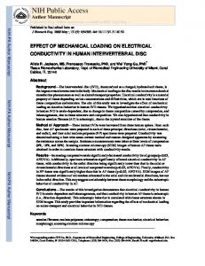 EFFECT OF MECHANICAL LOADING ON ELECTRICAL ...
