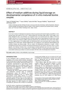 Effect of medium additives during liquid storage ... - Wiley Online Library