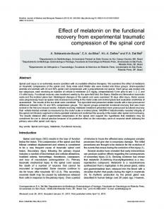 Effect of melatonin on the functional recovery from ... - BioMedSearch