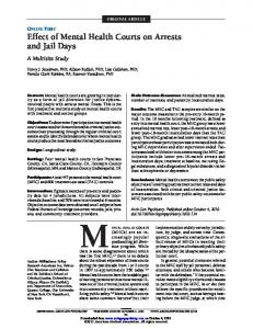 Effect of Mental Health Courts on Arrests and Jail Days - CiteSeerX
