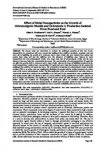 Effect of Metal Nanoparticles on the Growth of Ochratoxigenic Moulds ...