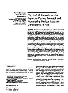 Effect of methamphetamine exposure during ... - Wiley Online Library