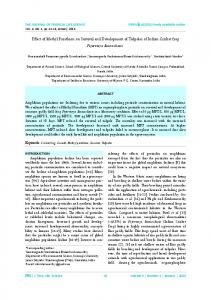 Effect of Methyl Parathion on Survival and ... - Portal Garuda