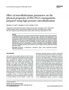 Effect of microfluidization parameters on the physical properties of ...
