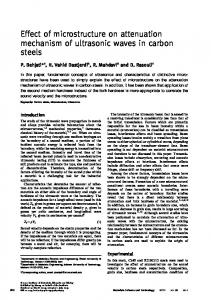 Effect of microstructure on attenuation mechanism of ultrasonic waves ...