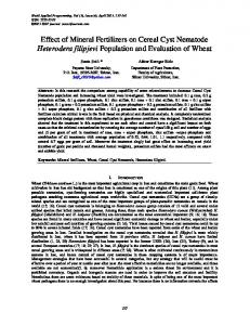 Effect of Mineral Fertilizers on Cereal Cyst Nematode Heterodera ...