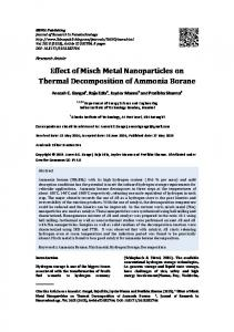 Effect of Misch Metal Nanoparticles on Thermal ... - IBIMA Publishing