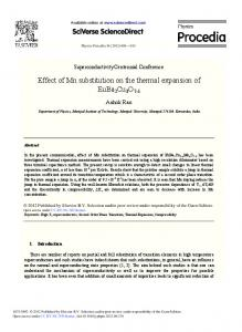 Effect of Mn Substitution on the Thermal Expansion of ...