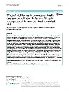 Effect of Mobile-health on maternal health care