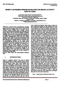Subjective symptoms related to GSM radiation from mobile