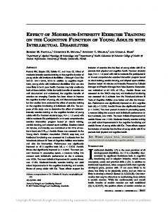 effect of moderate-intensity exercise training on the cognitive function ...