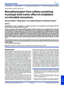 effect of molybdate on microbial consortium - Wiley Online Library