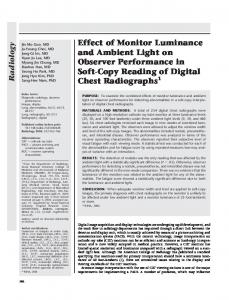 Effect of Monitor Luminance and Ambient Light on Observer ...