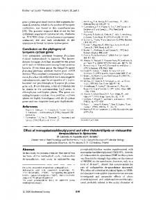 Effect of monogalactosyldiacylglycerol and other ... - Semantic Scholar