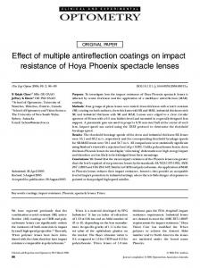 Effect of multiple antireflection coatings on ... - Wiley Online Library
