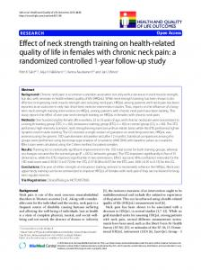 Effect of neck strength training on health-related ... - Semantic Scholar