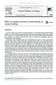 Effect of negative pressure wound therapy on wound healing