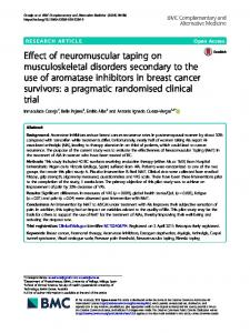Effect of neuromuscular taping on musculoskeletal disorders ...