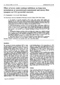 Effect of nitric oxide synthase inhibition on long-term ... - Europe PMC