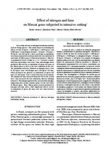 Effect of nitrogen and lime on Massai grass