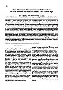 Effect of Non-starch Polysaccharides and Resistant Starch on Mucin ...