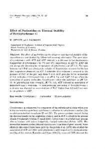 Effect of Nucleotides on Thermal Stability of ... - Semantic Scholar