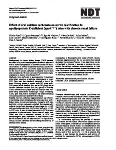 Effect of oral calcium carbonate on aortic ... - Oxford Journals
