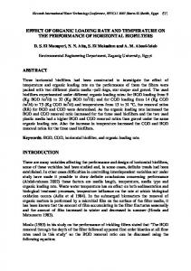 effect of organic loading rate and temperature on ... - Semantic Scholar