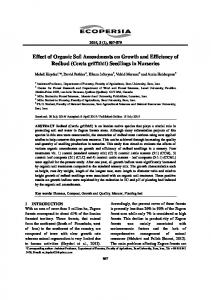 Effect of Organic Soil Amendments on Growth and ... - ecopersia