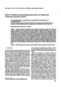 Effect of oxidation and annealing temperature on optical and structural ...