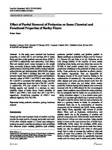 Effect of Partial Removal of Prolamins on Some ... - Springer Link