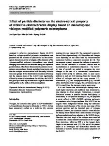 Effect of particle diameter on the electro-optical ... - Springer Link