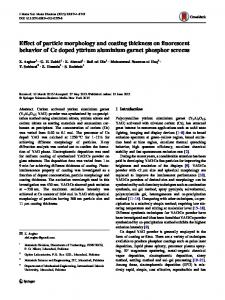 Effect of particle morphology and coating thickness on ... - Springer Link